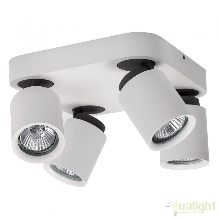 Plafoniera moderna cu 4 spoturi directionabile Techno 545020704 MW, Promotii si Reduceri⭐ Oferte ✅Corpuri de iluminat ✅Lustre ✅Mobila ✅Decoratiuni de interior si exterior.⭕Pret redus online➜Lichidari de stoc❗ Magazin ➽ www.evalight.ro. a