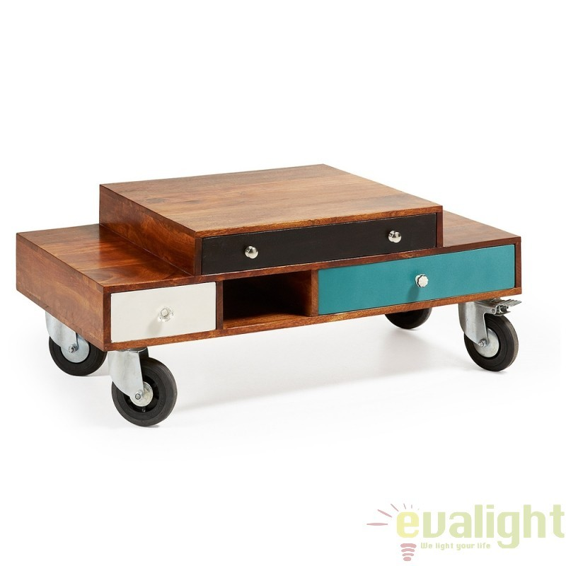 Masuta de cafea moderna din lemn de mango, COLLIN A712M35 JG, PROMOTII, Corpuri de iluminat, lustre, aplice, veioze, lampadare, plafoniere. Mobilier si decoratiuni, oglinzi, scaune, fotolii. Oferte speciale iluminat interior si exterior. Livram in toata tara.  a