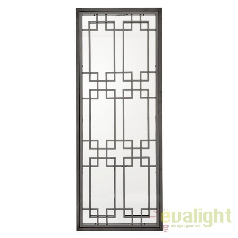 Oglinda decorativa cu rama din nickel negru Mota 109556 HZ, Oglinzi decorative,  a