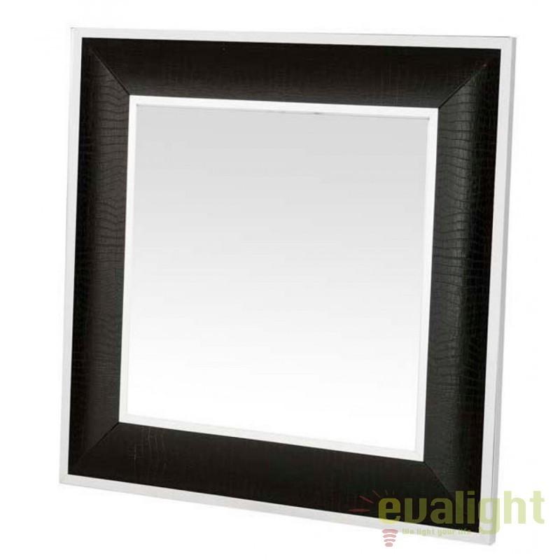 Oglinda decorativa eleganta Croco negru/ argintiu 106473 HZ, Oglinzi decorative,  a