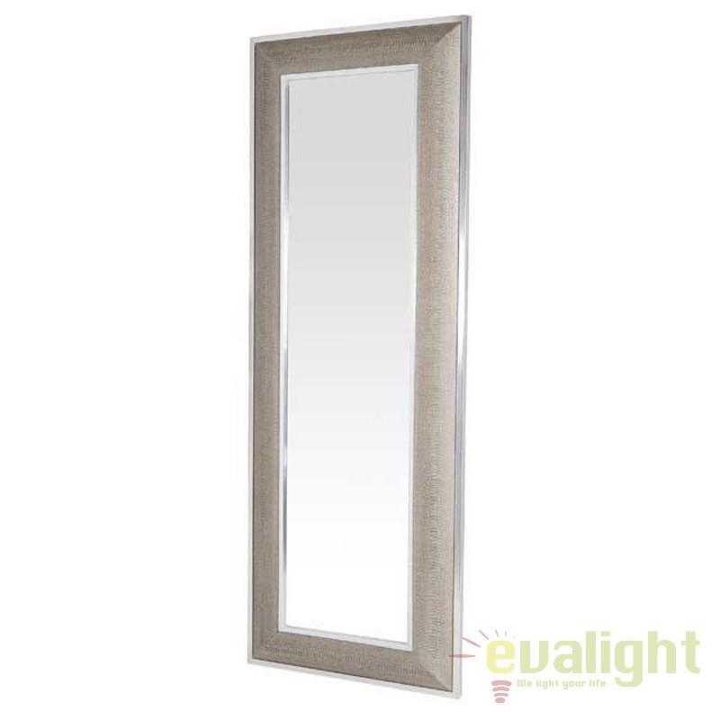 Oglinda decorativa eleganta Cobra crem/ argintiu dim.220X80cm 105255 HZ, Oglinzi decorative,  a