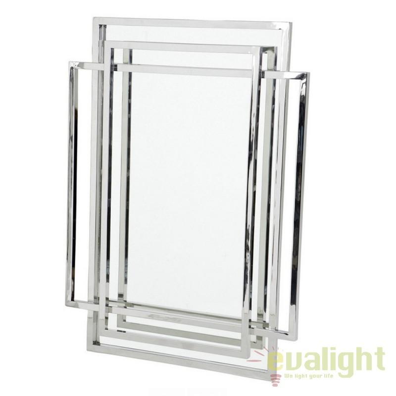 Oglinda design elegant LUX New Classic argintiu 105197 HZ, Oglinzi decorative,  a
