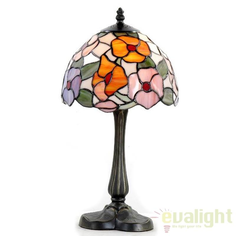 Veioza / Lampa cu sticla tiffany EBRO 8759 SU,  a