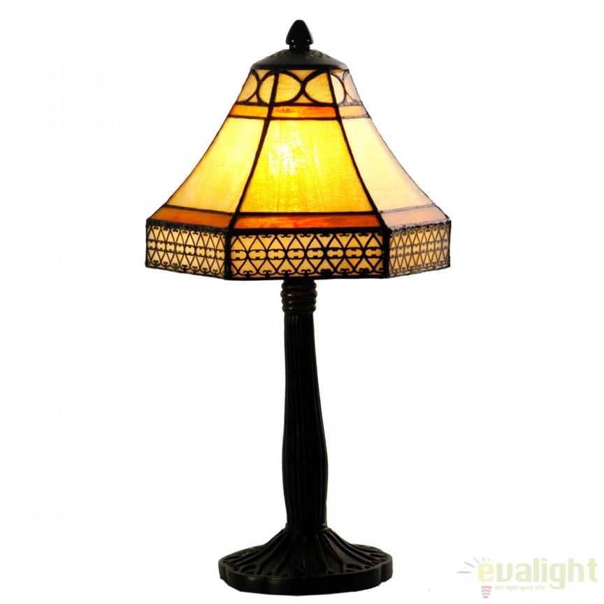 Veioza / Lampa cu sticla tiffany NAOMI 912490 SU,  a