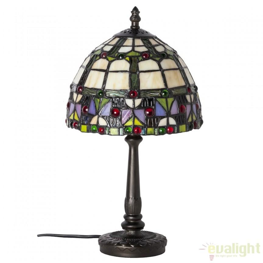 Veioza / Lampa cu sticla tiffany VIDRIERA 4559 SU,  a