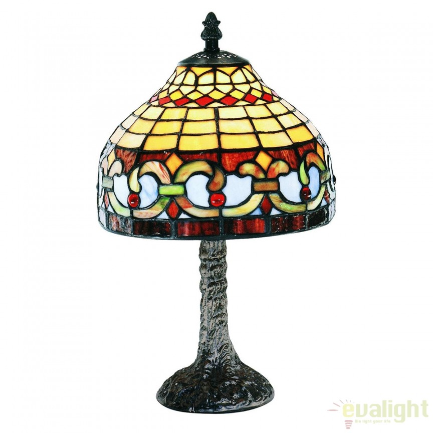Veioza / Lampa cu sticla tiffany CENEFA 400412 SU,  a