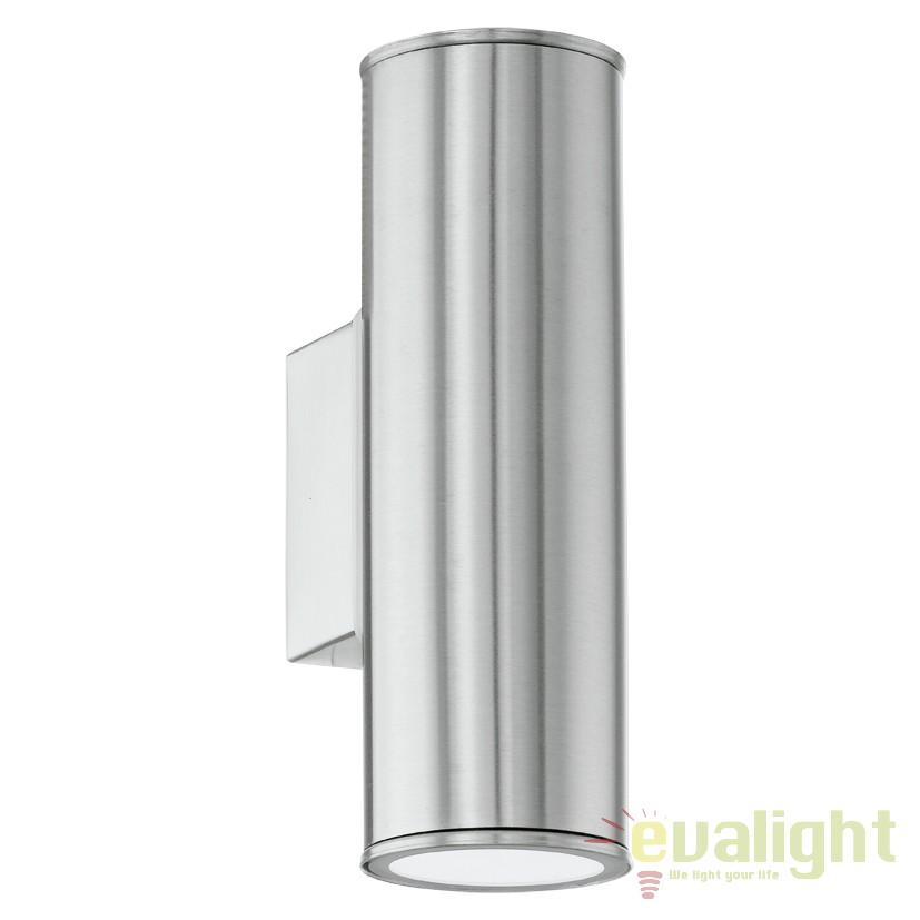 Aplica de perete exterior H-20cm, protectie IP44, LED RIGA up and down argintiu 94107 EL,  a