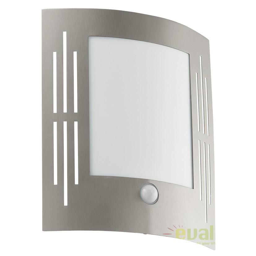 Aplica de perete exterior cu senzor H-26cm, protectie IP44  CITY 88144 EL  , Iluminat cu senzor de miscare, Corpuri de iluminat, lustre, aplice, veioze, lampadare, plafoniere. Mobilier si decoratiuni, oglinzi, scaune, fotolii. Oferte speciale iluminat interior si exterior. Livram in toata tara.  a