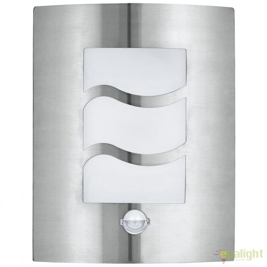 Aplica de perete exterior cu senzor H-30cm, protectie IP44 CITY 1 30194 EL , Iluminat cu senzor de miscare, Corpuri de iluminat, lustre, aplice, veioze, lampadare, plafoniere. Mobilier si decoratiuni, oglinzi, scaune, fotolii. Oferte speciale iluminat interior si exterior. Livram in toata tara.  a