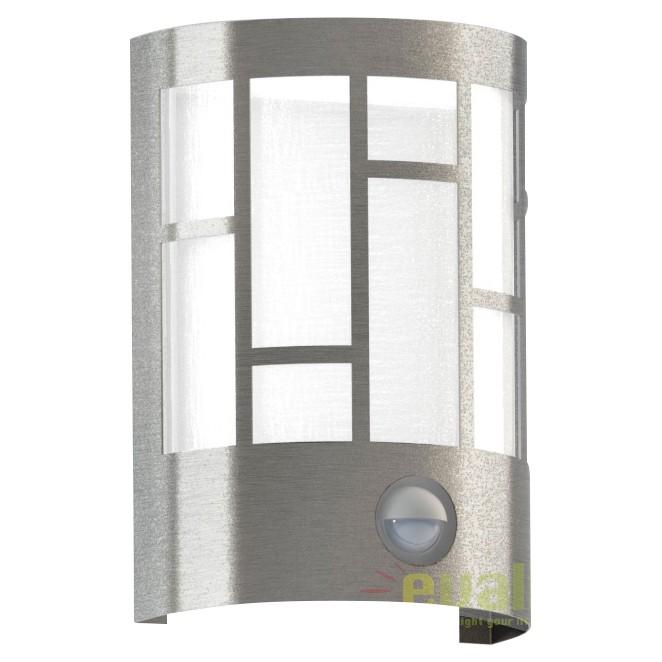 Aplica de perete exterior cu senzor H-20cm, protectie IP44, CERNO 94798 EL, Iluminat cu senzor de miscare, Corpuri de iluminat, lustre, aplice, veioze, lampadare, plafoniere. Mobilier si decoratiuni, oglinzi, scaune, fotolii. Oferte speciale iluminat interior si exterior. Livram in toata tara.  a