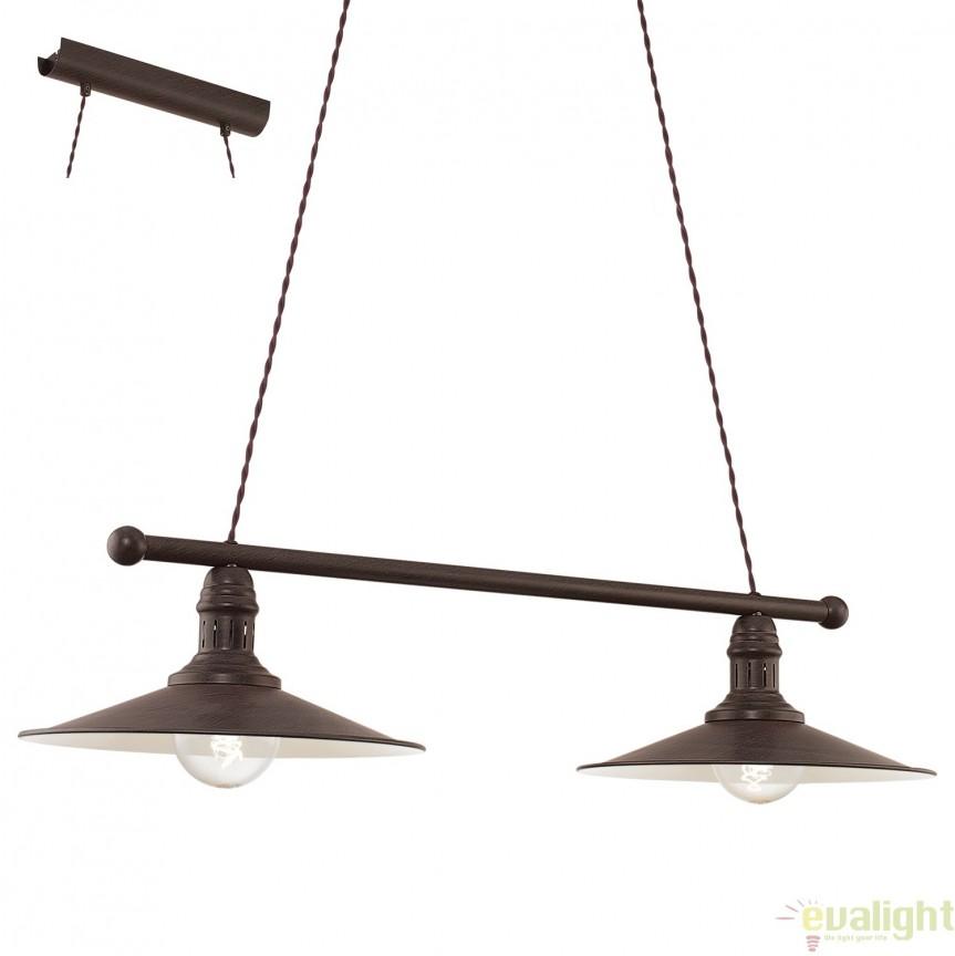 Lustra suspendata cu 2 pendule, design Vintage, STOCKBURY 49457 EL, NOU ! Lustre VINTAGE, RETRO, INDUSTRIA Style,  a