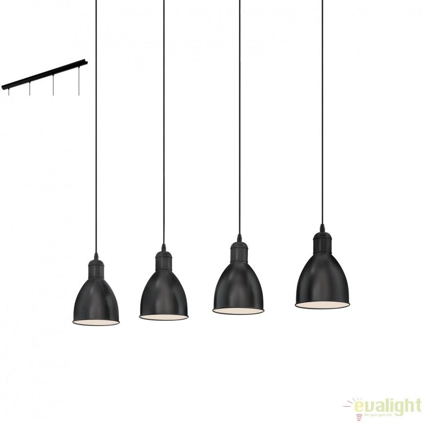Lustra suspendata cu 4 pendule industrial style, PRIDDY 49466 EL, Magazin,  a