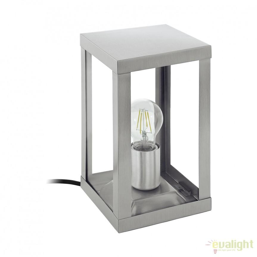 Lampa de masa exterior, protectie IP44, ALAMONTE 94787 EL, Lampi de exterior portabile , Corpuri de iluminat, lustre, aplice, veioze, lampadare, plafoniere. Mobilier si decoratiuni, oglinzi, scaune, fotolii. Oferte speciale iluminat interior si exterior. Livram in toata tara.  a