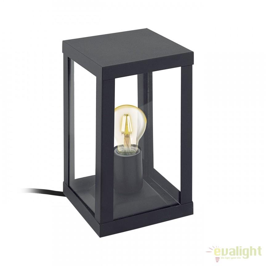 Lampa de masa exterior, protectie IP44, ALAMONTE 1 negru 94789 EL, Lampi de exterior portabile , Corpuri de iluminat, lustre, aplice a