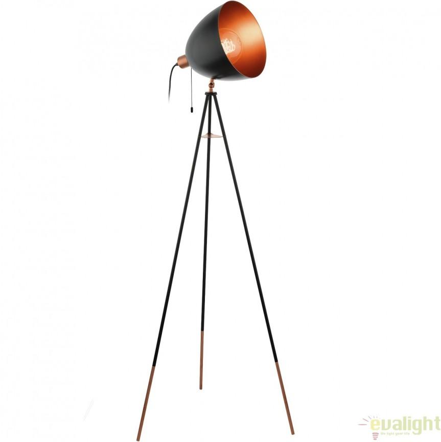 Lampadar, lampa de podea design vintage CHESTER 49386 EL, Magazin,  a