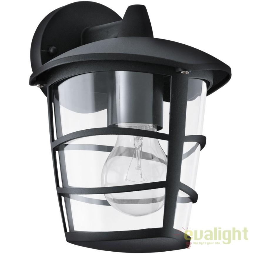 Aplica de perete exterior, protectie IP44, ALORIA negru 93098 EL, Magazin,  a
