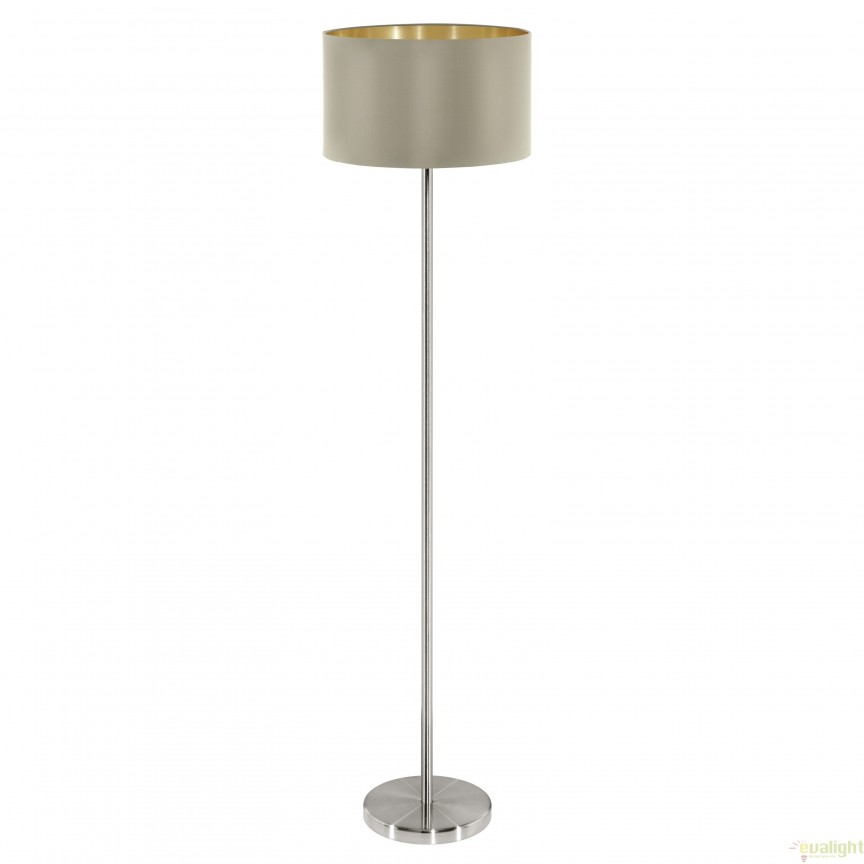 Lampadar, lampa de podea, taupe-auriu MASERLO 95171 EL, Magazin,  a