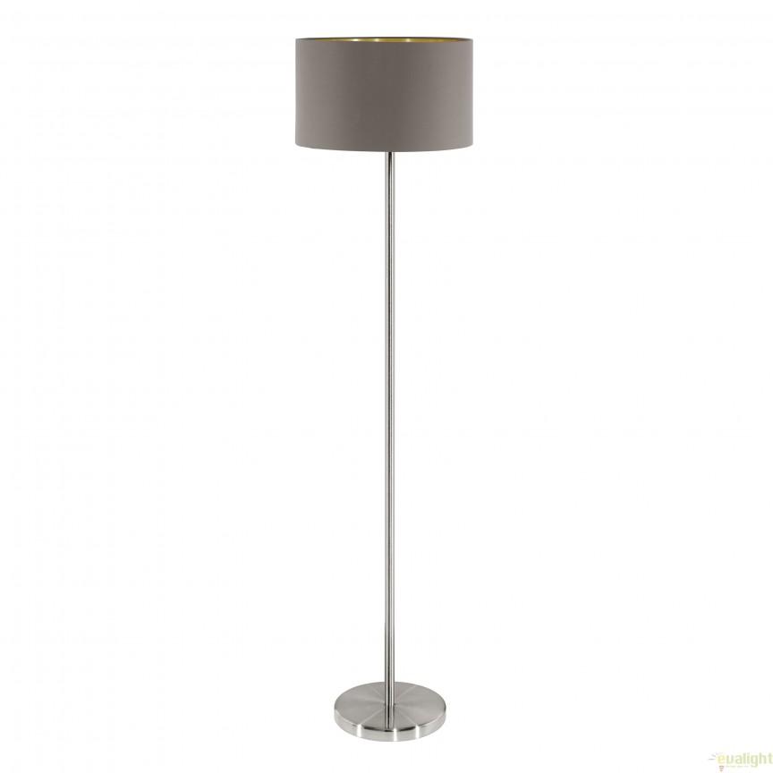 Lampadar, lampa de podea, cappucino-auriu MASERLO 95172 EL, Magazin,  a