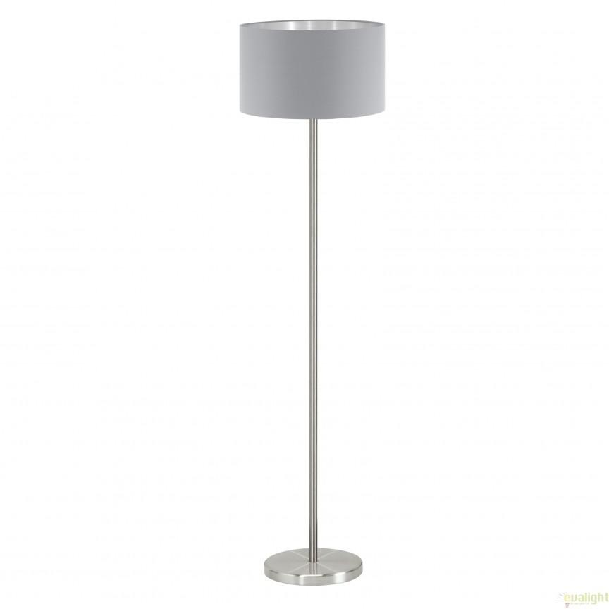 Lampadar, lampa de podea, gri-argintiu MASERLO 95173 EL, Magazin,  a