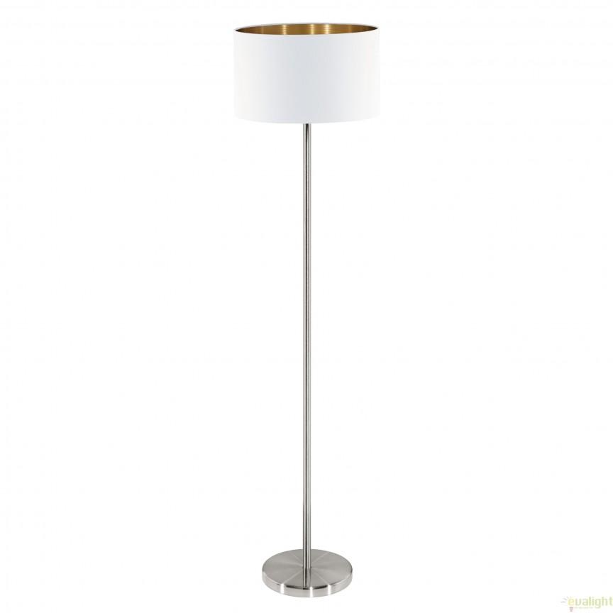 Lampadar, lampa de podea, alb / cupru / nickel, 151cm PASTERI 95174 EL, Magazin,  a