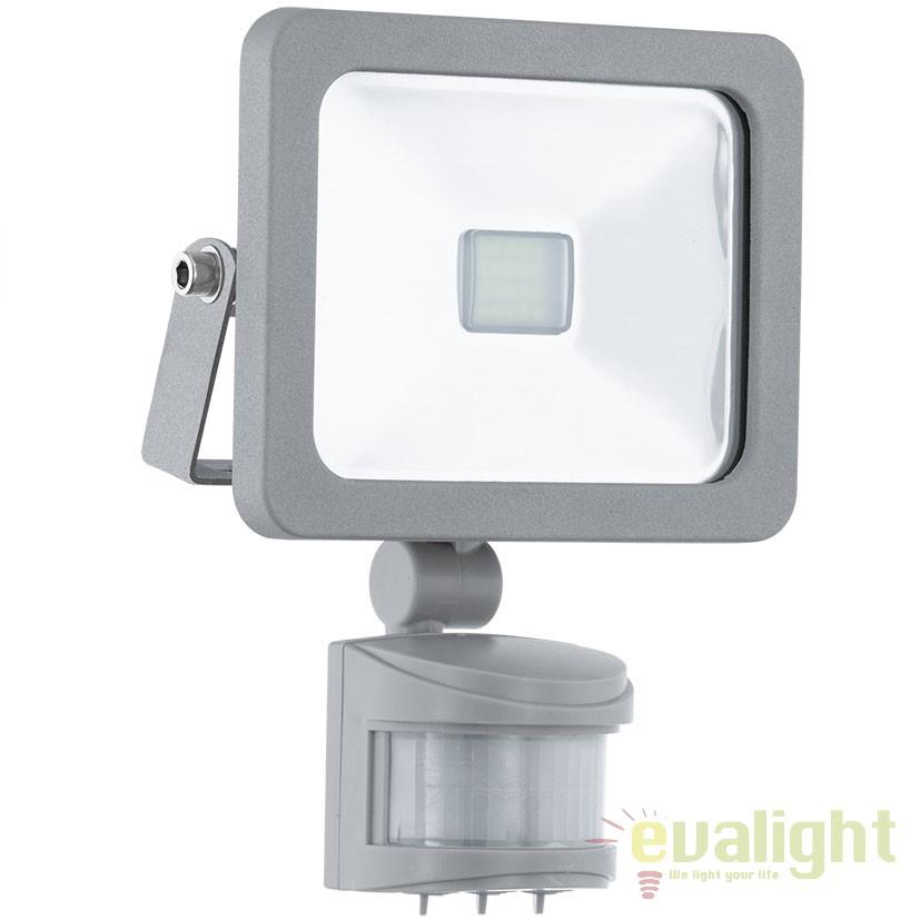 Proiector de exterior cu senzor de miscare, protectie IP44, LED FAEDO 1 95407 EL, Proiectoare de iluminat exterior , Corpuri de iluminat, lustre, aplice, veioze, lampadare, plafoniere. Mobilier si decoratiuni, oglinzi, scaune, fotolii. Oferte speciale iluminat interior si exterior. Livram in toata tara.  a