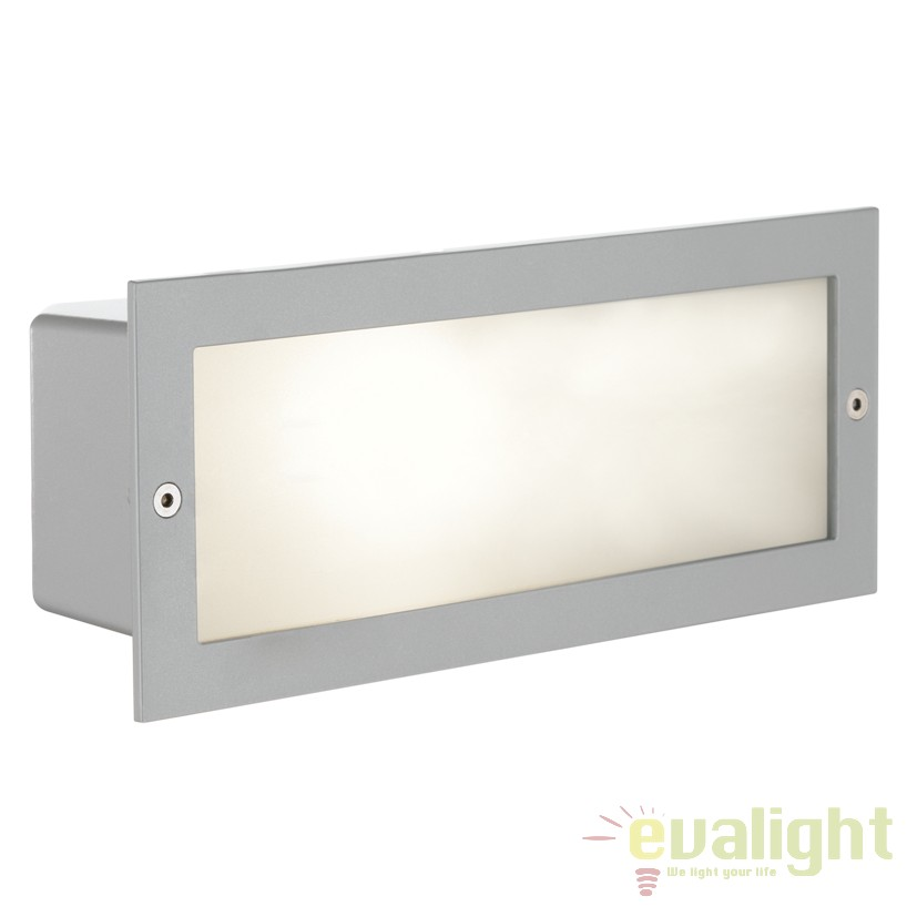Aplica de perete exterior, protectie IP44, ZIMBA argintiu 88008 EL, Aplice de exterior clasice, rustice, traditionale,  a
