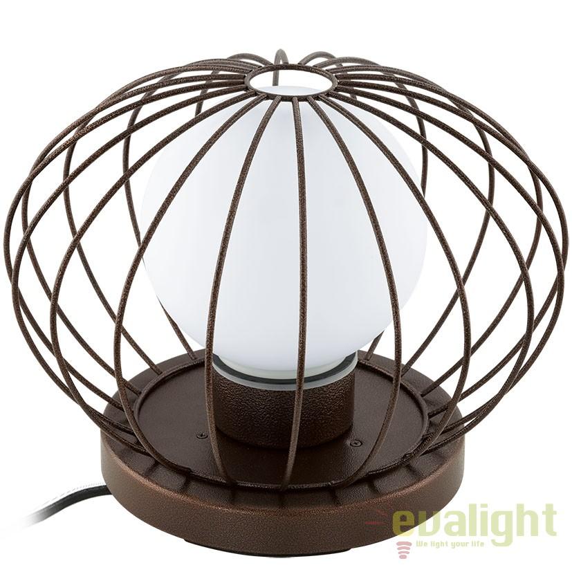 Veioza exterior diam.37cm, protectie IP54, TERRICO maro 94334 EL, Lampi de exterior portabile , Corpuri de iluminat, lustre, aplice a