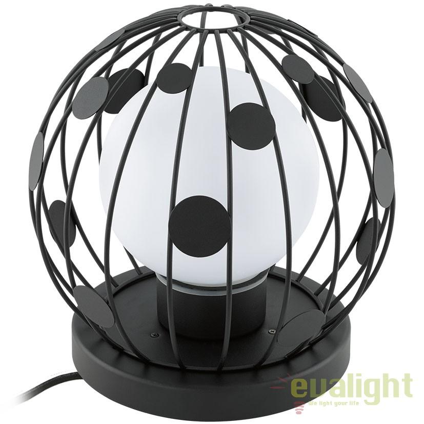Veioza exterior diam.31,5cm, protectie IP54, TERRICO negru 94335 EL, Lampi de exterior portabile , Corpuri de iluminat, lustre, aplice a
