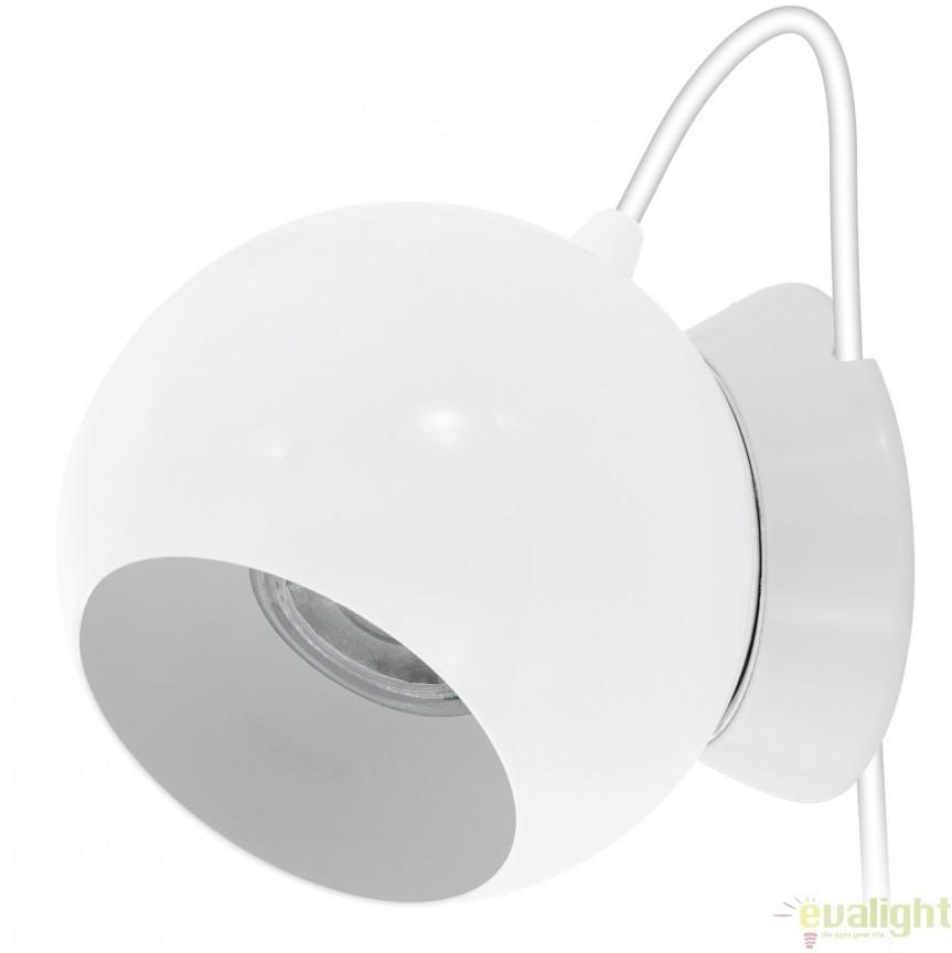 Veioza, lampa de masa LED diam.10,5cm, finisaj alb, PETTO 1 94513 EL , Magazin, Corpuri de iluminat, lustre, aplice, veioze, lampadare, plafoniere. Mobilier si decoratiuni, oglinzi, scaune, fotolii. Oferte speciale iluminat interior si exterior. Livram in toata tara.  a