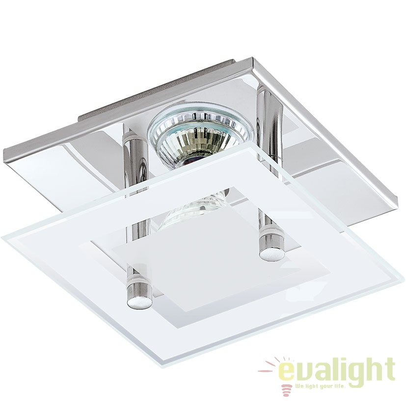 Plafoniera moderna LED ALMANA crom/ alb 94224 EL, PROMOTII,  a