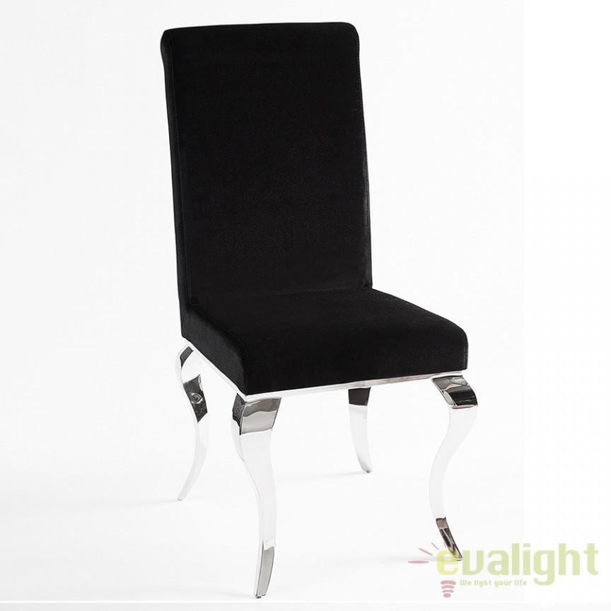 Set de 2 scaune LUX dining sau birou Modern Barock negru A-36546 VC , Promotii si Reduceri⭐ Oferte ✅Corpuri de iluminat ✅Lustre ✅Mobila ✅Decoratiuni de interior si exterior.⭕Pret redus online➜Lichidari de stoc❗ Magazin ➽ www.evalight.ro. a