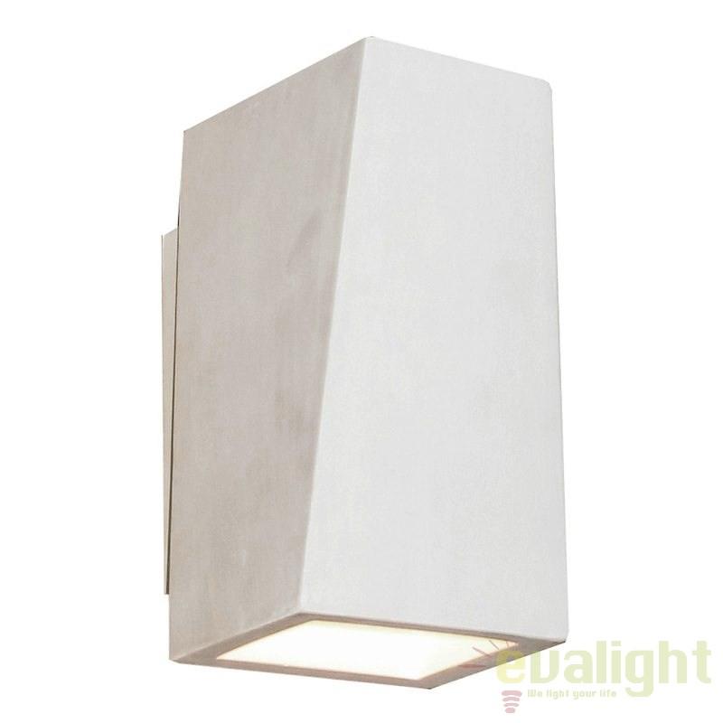 Aplica design minimalist YESO 1L CUBICO 215007 SU, Spoturi incastrate, aplicate - tavan / perete, Corpuri de iluminat, lustre, aplice a