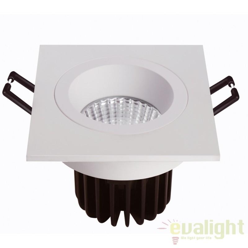 Spot LED incastrabil pentru baie IP44 COBFIX PLUS SQUARE 100888 SU, Spoturi incastrate, aplicate - tavan / perete, Corpuri de iluminat, lustre, aplice, veioze, lampadare, plafoniere. Mobilier si decoratiuni, oglinzi, scaune, fotolii. Oferte speciale iluminat interior si exterior. Livram in toata tara.  a