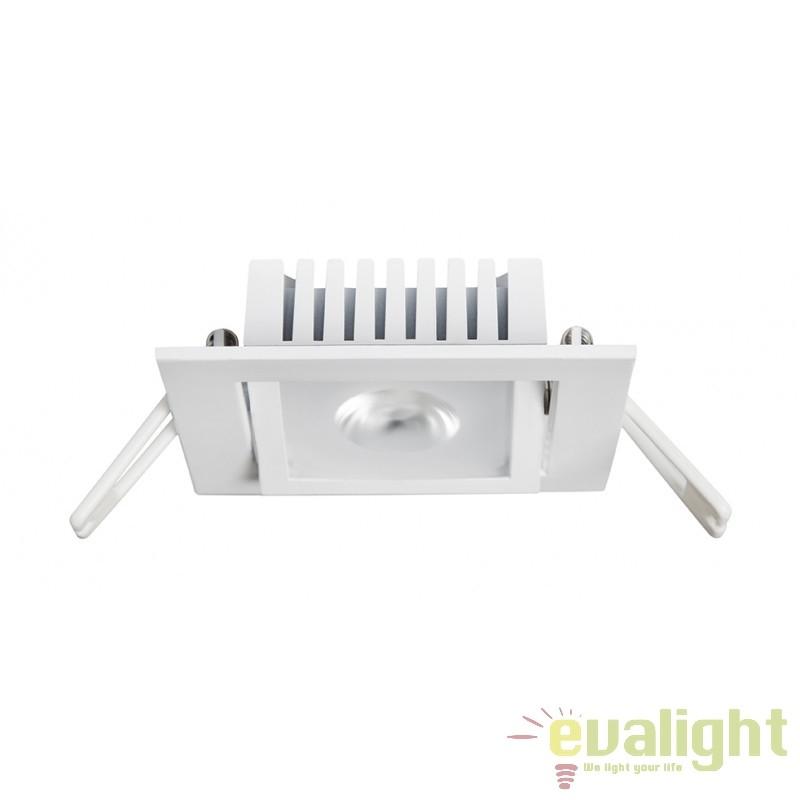 Spot LED incastrabil pentru baie IP54 COBFIX PLUS SQUARE 100998 SU, Spoturi incastrate, aplicate - tavan / perete, Corpuri de iluminat, lustre, aplice, veioze, lampadare, plafoniere. Mobilier si decoratiuni, oglinzi, scaune, fotolii. Oferte speciale iluminat interior si exterior. Livram in toata tara.  a