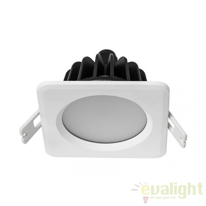 Spot LED incastrabil pentru baie IP65 DOWNLIGHT SQUARE 112052 SU, Spoturi LED incastrate, aplicate, Corpuri de iluminat, lustre, aplice, veioze, lampadare, plafoniere. Mobilier si decoratiuni, oglinzi, scaune, fotolii. Oferte speciale iluminat interior si exterior. Livram in toata tara.  a