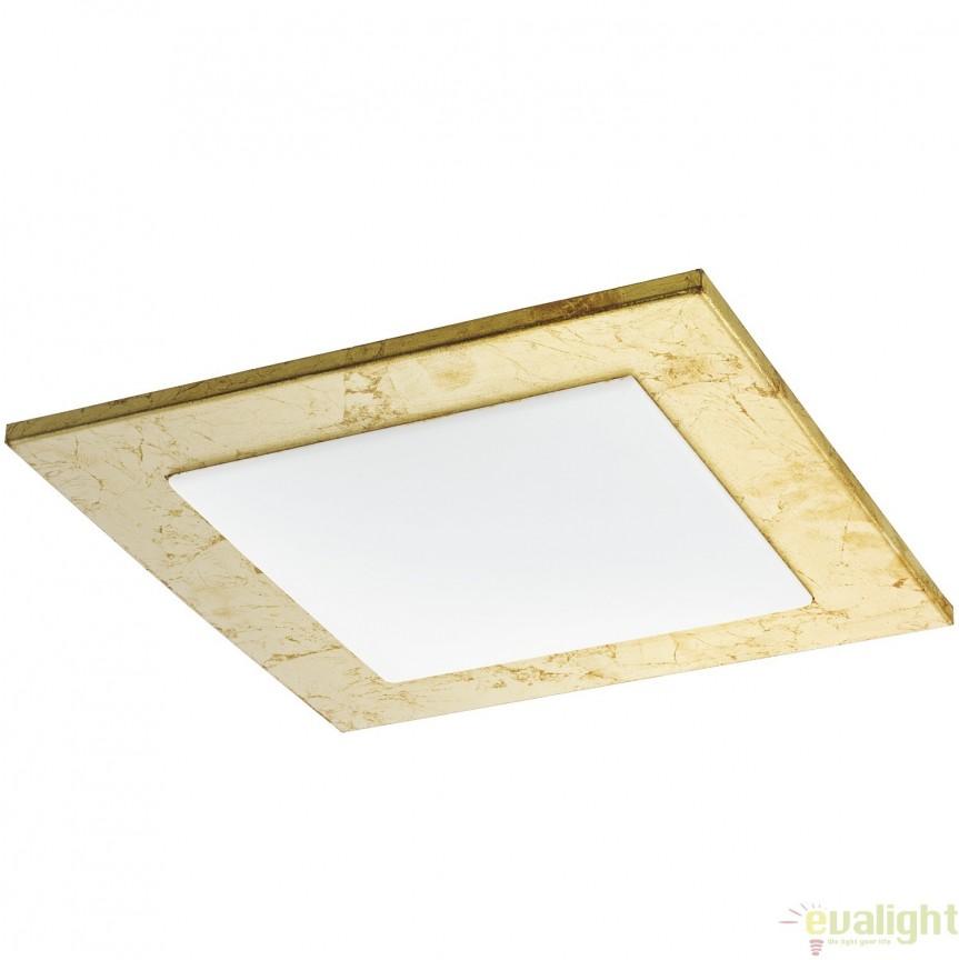 Plafoniera LED 33 X 33cm, auriu/alb CIOLINI 94553 EL, Magazin, Corpuri de iluminat, lustre, aplice, veioze, lampadare, plafoniere. Mobilier si decoratiuni, oglinzi, scaune, fotolii. Oferte speciale iluminat interior si exterior. Livram in toata tara.  a
