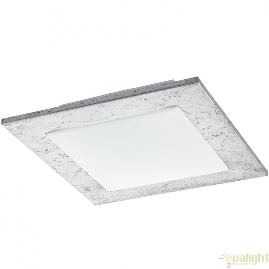 Plafoniera LED 33 X 33cm, argintiu/alb CIOLINI 94554 EL, Magazin, Corpuri de iluminat, lustre, aplice, veioze, lampadare, plafoniere. Mobilier si decoratiuni, oglinzi, scaune, fotolii. Oferte speciale iluminat interior si exterior. Livram in toata tara.  a