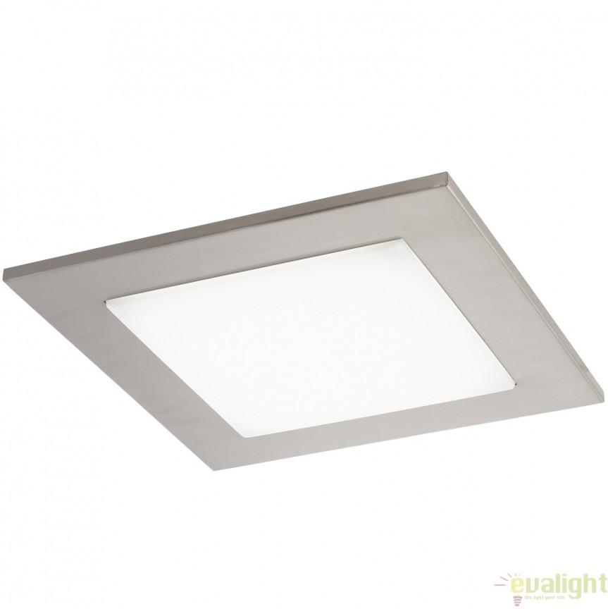 Plafoniera LED 33 X 33cm, nickel/alb CIOLINI 94555 EL, Magazin, Corpuri de iluminat, lustre, aplice, veioze, lampadare, plafoniere. Mobilier si decoratiuni, oglinzi, scaune, fotolii. Oferte speciale iluminat interior si exterior. Livram in toata tara.  a