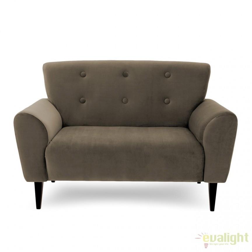 Canapea cu 2 locuri LUX eleganta si confortabila cu tapiterie din catifea, Kiara 2 taupe, Magazin, Corpuri de iluminat, lustre, aplice, veioze, lampadare, plafoniere. Mobilier si decoratiuni, oglinzi, scaune, fotolii. Oferte speciale iluminat interior si exterior. Livram in toata tara.  a