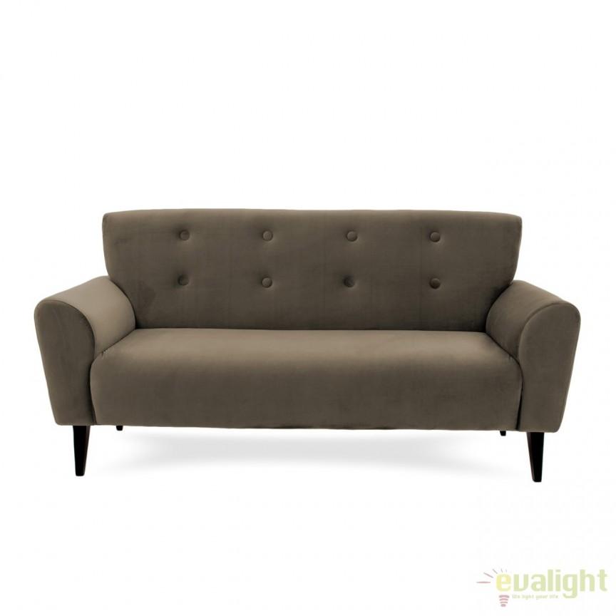 Canapea cu 3 locuri LUX eleganta si confortabila cu tapiterie din catifea, Kiara 3 taupe, Magazin, Corpuri de iluminat, lustre, aplice, veioze, lampadare, plafoniere. Mobilier si decoratiuni, oglinzi, scaune, fotolii. Oferte speciale iluminat interior si exterior. Livram in toata tara.  a