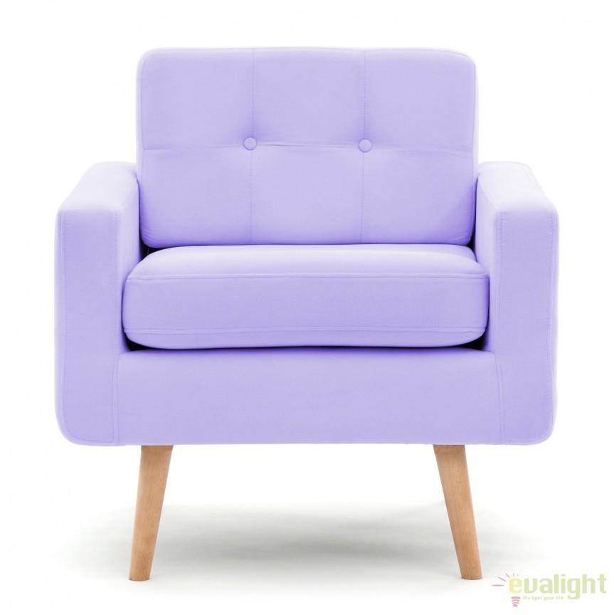 Fotoliu modern si elegant cu design old-fashion Ina 1 violet, Magazin, Corpuri de iluminat, lustre, aplice, veioze, lampadare, plafoniere. Mobilier si decoratiuni, oglinzi, scaune, fotolii. Oferte speciale iluminat interior si exterior. Livram in toata tara.  a
