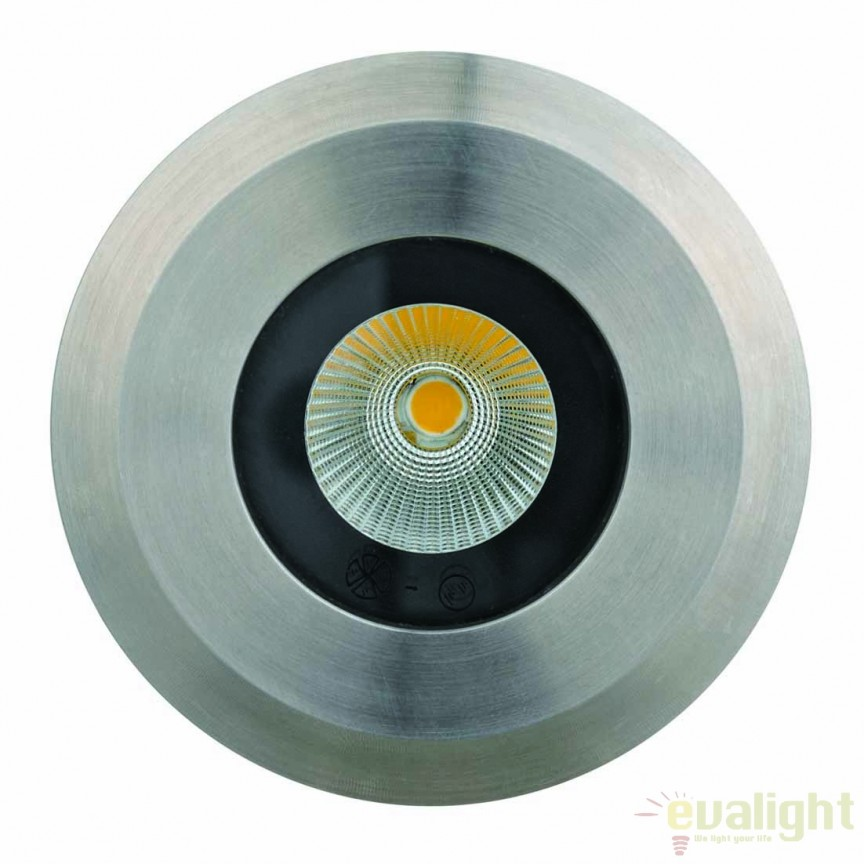 Spot LED incastrabil pentru pavaj exterior cu protectie IP67 CobSoil Round 3W 111197 SU , Iluminat exterior incastrabil , Corpuri de iluminat, lustre, aplice, veioze, lampadare, plafoniere. Mobilier si decoratiuni, oglinzi, scaune, fotolii. Oferte speciale iluminat interior si exterior. Livram in toata tara.  a