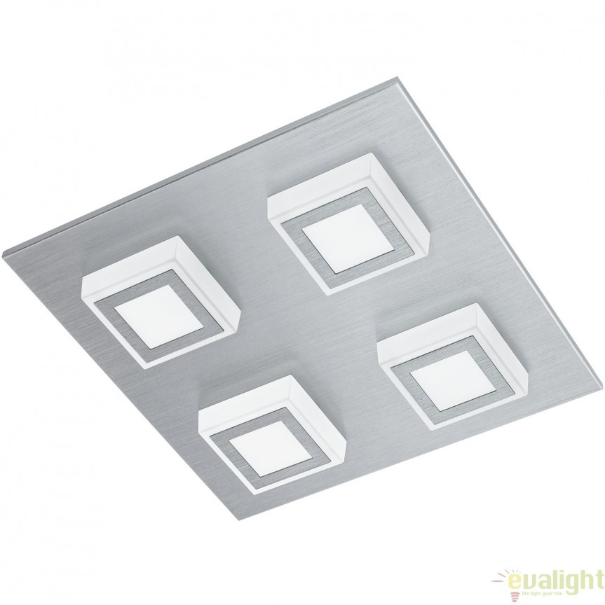 Aplica / Plafoniera LED, 27x27cm, argintiu MASIANO 94508 EL, Magazin, Corpuri de iluminat, lustre, aplice, veioze, lampadare, plafoniere. Mobilier si decoratiuni, oglinzi, scaune, fotolii. Oferte speciale iluminat interior si exterior. Livram in toata tara.  a