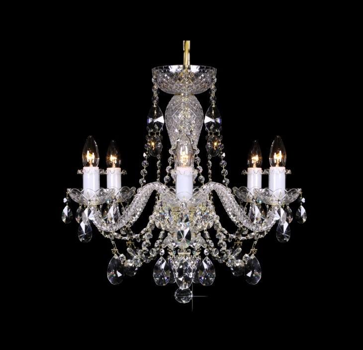 Lustra 6 brate cristal Bohemia L11 009/06/1-A; lip., Lustre Cristal Bohemia, Corpuri de iluminat, lustre, aplice, veioze, lampadare, plafoniere. Mobilier si decoratiuni, oglinzi, scaune, fotolii. Oferte speciale iluminat interior si exterior. Livram in toata tara.  a