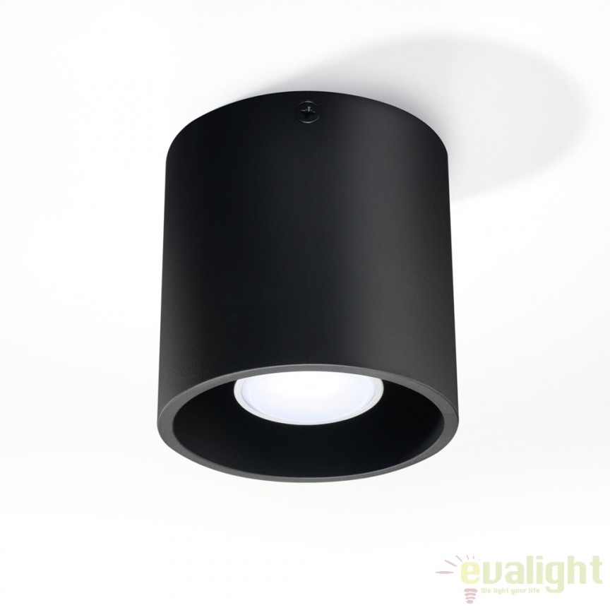 Plafoniera / Spot aplicat design modern ORBIS I negru SL.0016, Spoturi incastrate, aplicate - tavan / perete, Corpuri de iluminat, lustre, aplice a