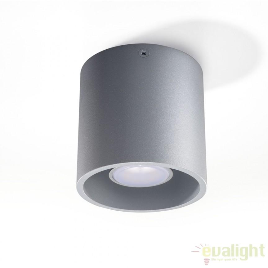 Plafoniera / Spot aplicat design modern ORBIS I gri SL.0018, Spoturi incastrate, aplicate - tavan / perete, Corpuri de iluminat, lustre, aplice a