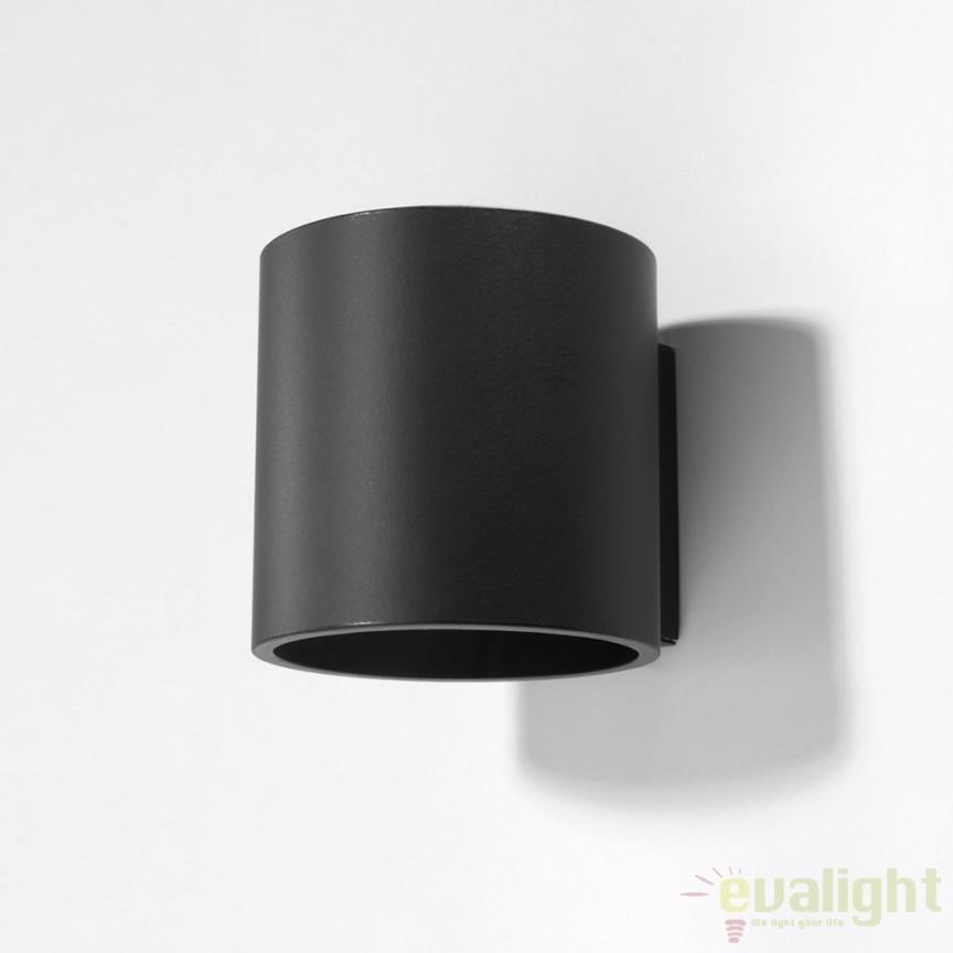 Aplica de perete design modern minimalist ORBIS I neagra SL.0048 , PROMOTII, Corpuri de iluminat, lustre, aplice, veioze, lampadare, plafoniere. Mobilier si decoratiuni, oglinzi, scaune, fotolii. Oferte speciale iluminat interior si exterior. Livram in toata tara.  a