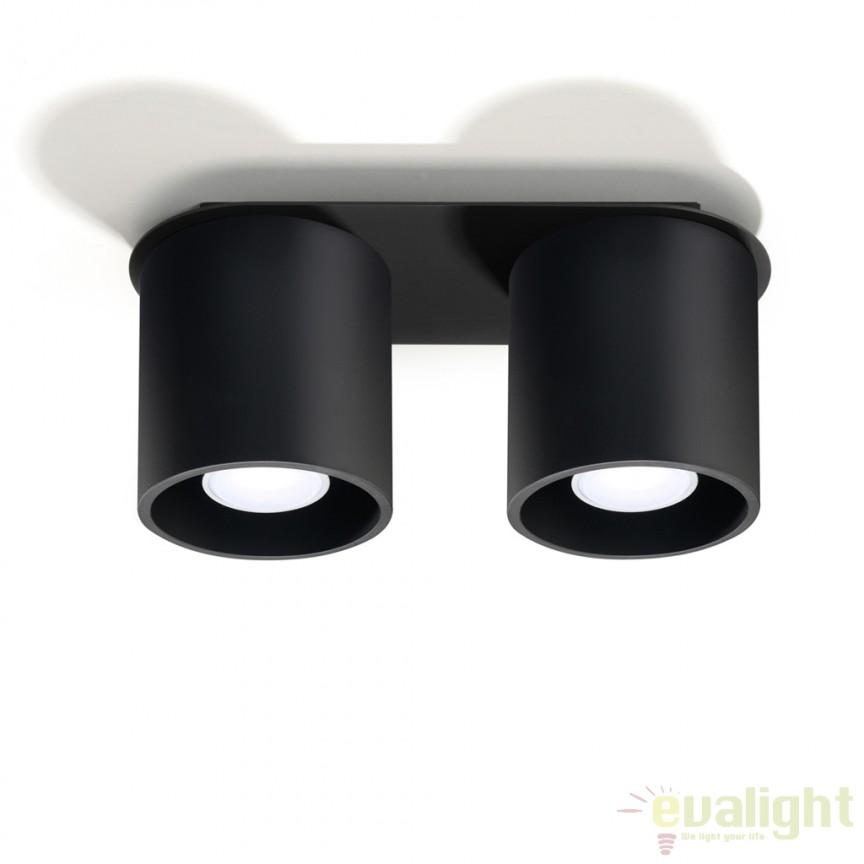 Plafoniera / Spot aplicat design modern ORBIS II negru SL.0054, Outlet,  a