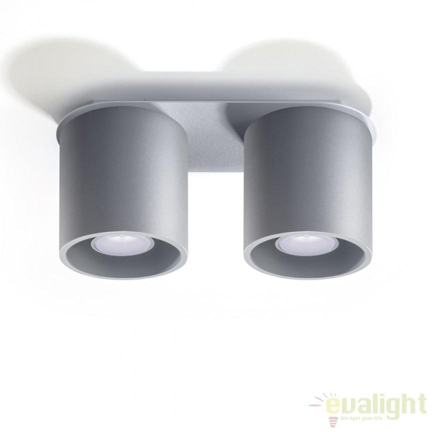 Plafoniera / Spot aplicat design modern ORBIS II gri SL.0055, Spoturi incastrate, aplicate - tavan / perete, Corpuri de iluminat, lustre, aplice a
