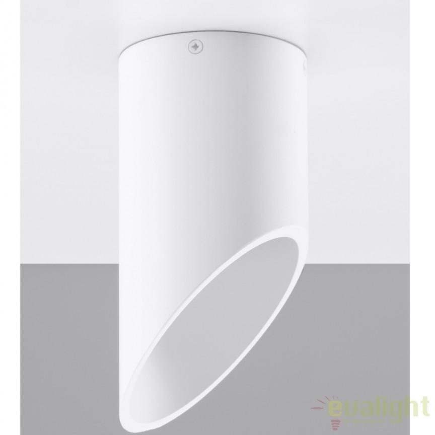 Plafoniera / Spot aplicat design modern PENNE 20 alb SL.0103, Spoturi incastrate, aplicate - tavan / perete, Corpuri de iluminat, lustre, aplice a